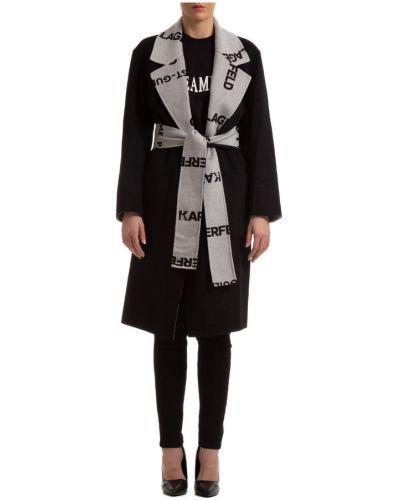 Wełniany płaszcz Karl Lagerfeld