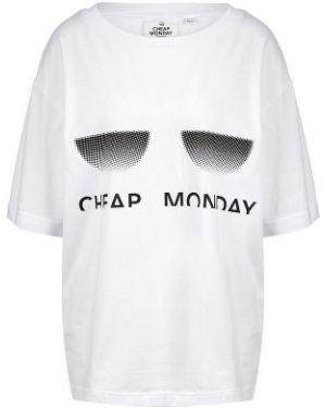 Футболка белая оверсайз Cheap Monday