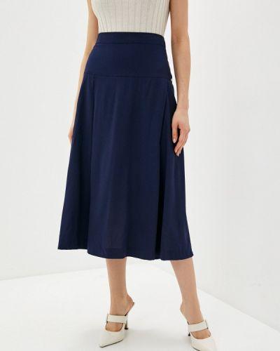 Синяя юбка свободного кроя Helmidge