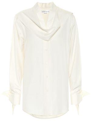 Белая шелковая блузка Victoria Beckham