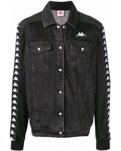 Куртка черная с логотипом Kappa