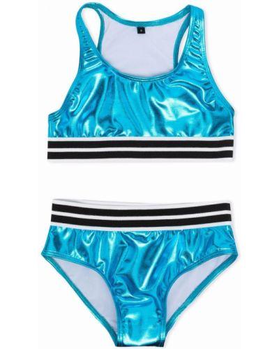 Niebieski bikini bez rękawów Andorine