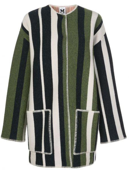 Шерстяное вязаное длинное пальто оверсайз M Missoni