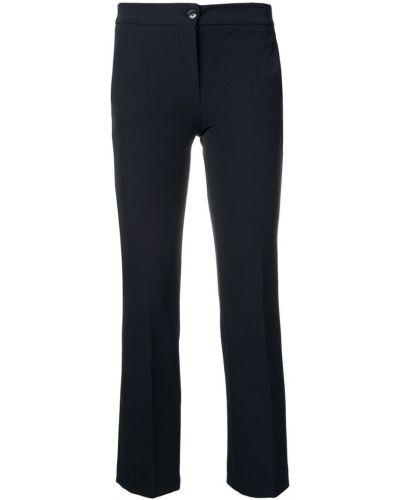 Укороченные брюки со складками с карманами Blanca