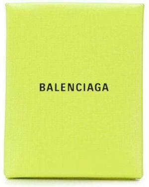 Zielona kopertówka skórzana na co dzień Balenciaga