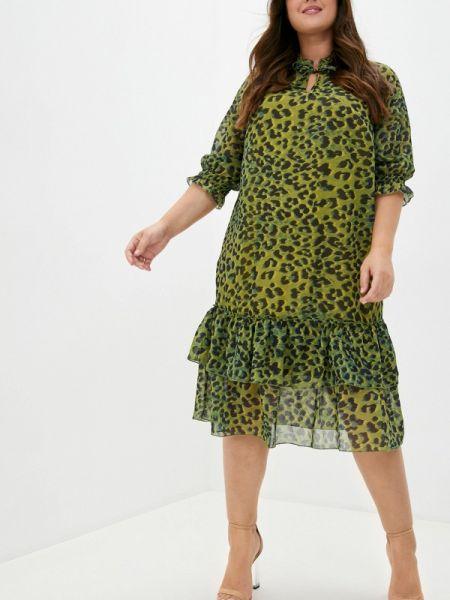 Повседневное зеленое повседневное платье Blagof