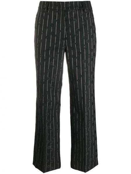Шерстяные черные брюки с карманами Mcq Alexander Mcqueen