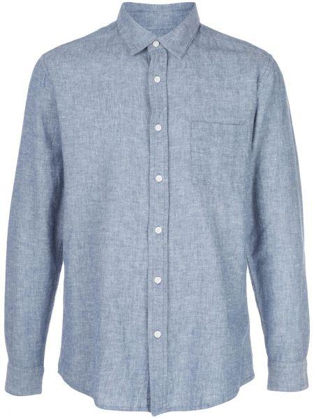 Koszula z długim rękawem klasyczna niebieski Onia