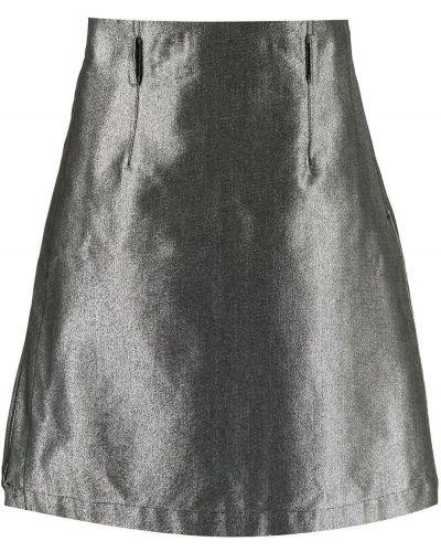 С ремешком серебряная с завышенной талией юбка Comme Des Garçons Homme Plus