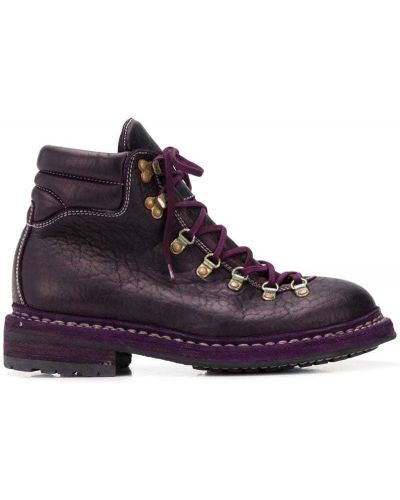 Фиолетовые ботинки Guidi