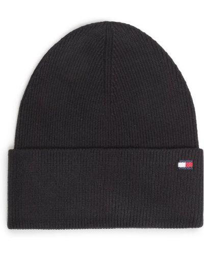 Czarna czapka beanie Tommy Hilfiger