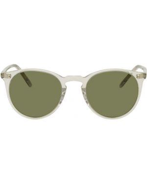 Okulary przeciwsłoneczne zielony czarny Oliver Peoples