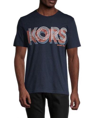 Вязаная хлопковая футболка с короткими рукавами Michael Kors