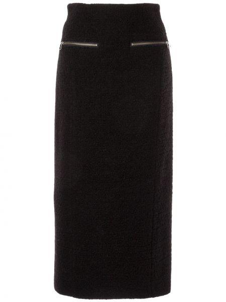 Черная юбка миди с карманами в рубчик Muller Of Yoshiokubo
