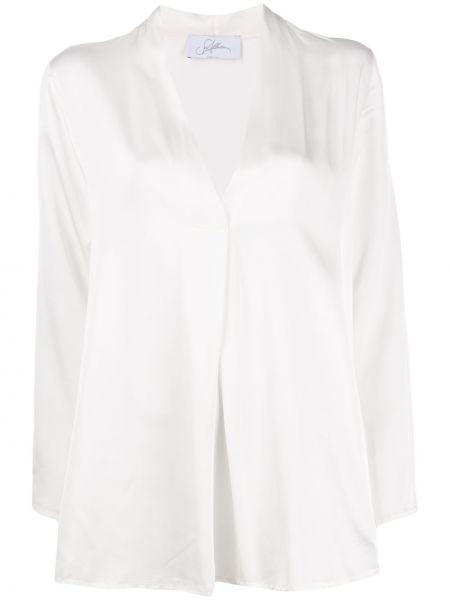 Bluzka z długimi rękawami z wiskozy z dekoltem w serek So Allure