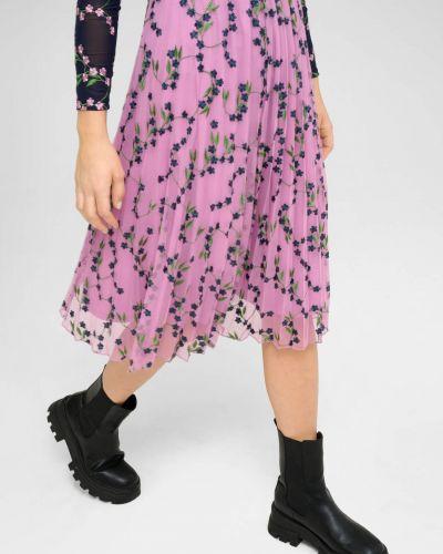 Fioletowa spódnica z haftem Orsay