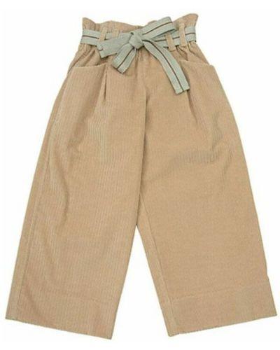 Beżowe spodnie z paskiem Brunello Cucinelli