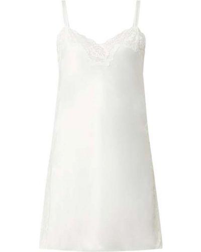 Biała satynowa koszula nocna koronkowa Lauren Ralph Lauren