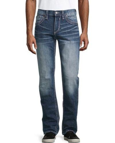 Прямые черные джинсы с вышивкой Affliction