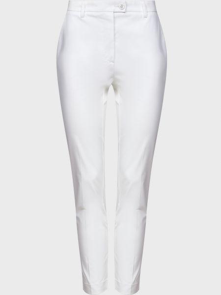 Хлопковые белые брюки на пуговицах Sfizio