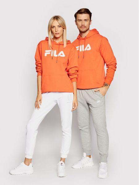 Klasyczny dres - pomarańczowa Fila