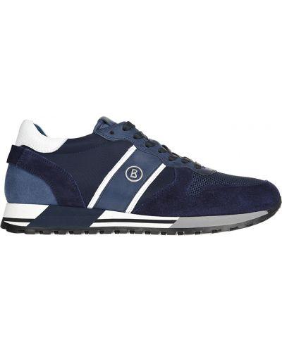 Кожаные кроссовки - синие Bogner
