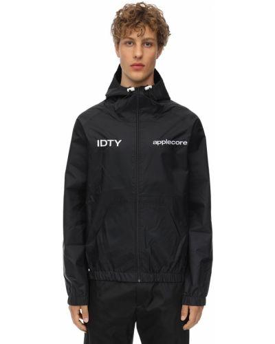 Czarna kurtka z kapturem Applecore