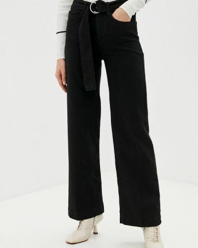 Расклешенные черные широкие джинсы Twist & Tango