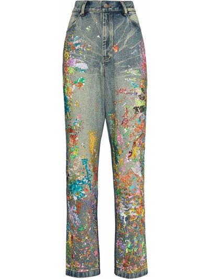 Прямые джинсы классические - синие Ashish