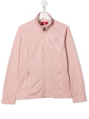 С рукавами розовый топ с карманами Rossignol Kids