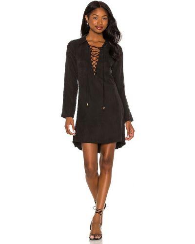 Кружевное платье мини - черное Suboo