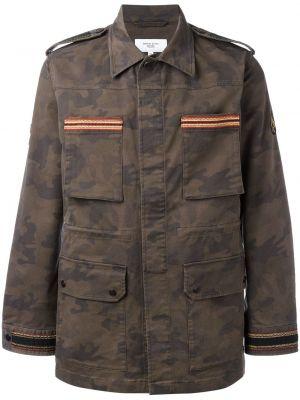 Zielona kurtka z haftem bawełniana Fashion Clinic Timeless