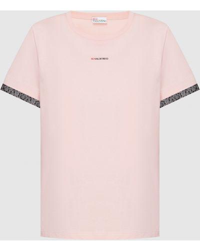 Розовая футболка Red Valentino