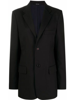Однобортный черный пиджак с карманами Maison Margiela