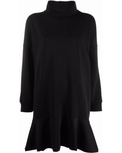 Черное хлопковое платье макси 8pm