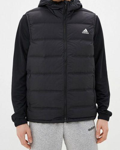 Черная теплая жилетка Adidas