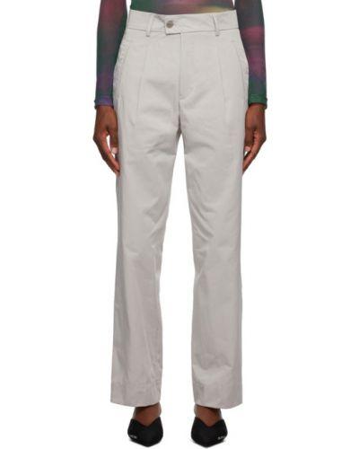 Spodni srebro nylon spodnie z kieszeniami Serapis