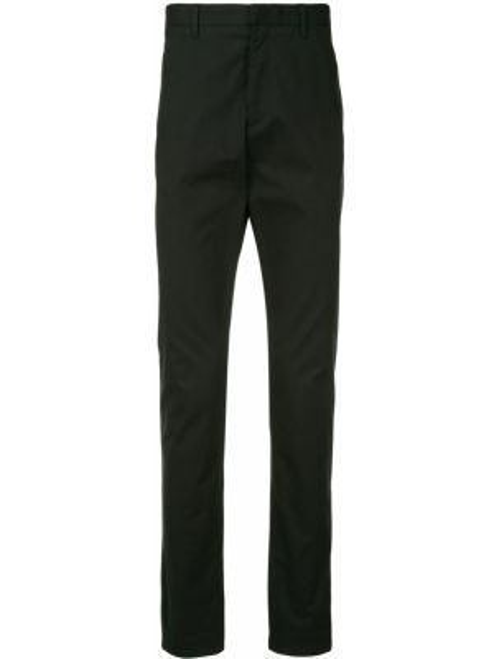 Хлопковые брючные черные брюки с карманами Cerruti 1881