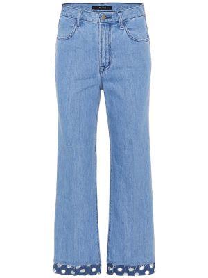 Широкие джинсы mom синие J Brand