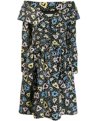 Платье с цветочным принтом винтажная Victor Costa Vintage