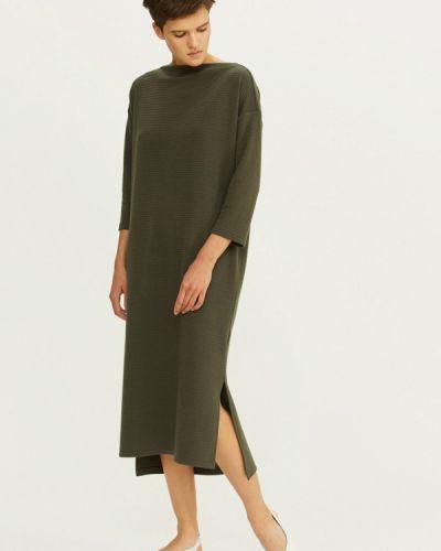 Платье осеннее зеленый Base Forms