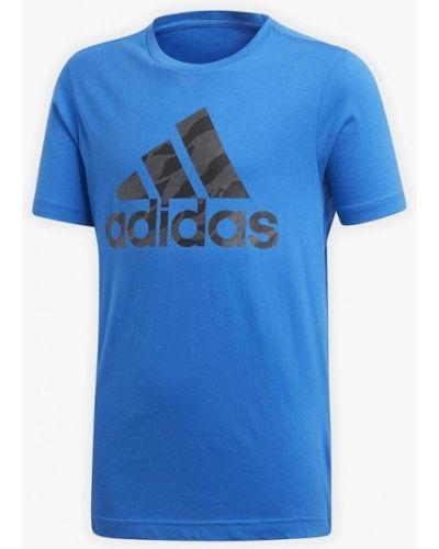 Синяя футболка Adidas