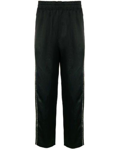 Черные спортивные брюки с поясом Damir Doma