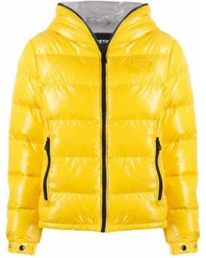 Куртка с капюшоном с манжетами мятная Duvetica