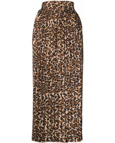 Брюки с леопардовым принтом с поясом Pt01