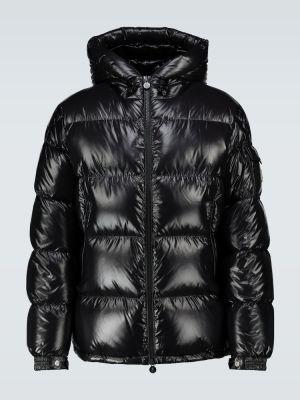 Черная пуховая куртка с капюшоном Moncler