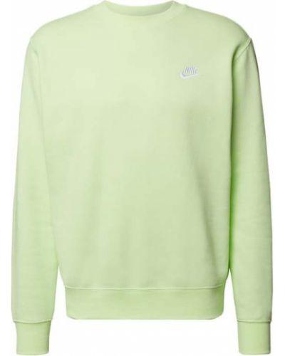 Prążkowana zielona bluza bawełniana Nike