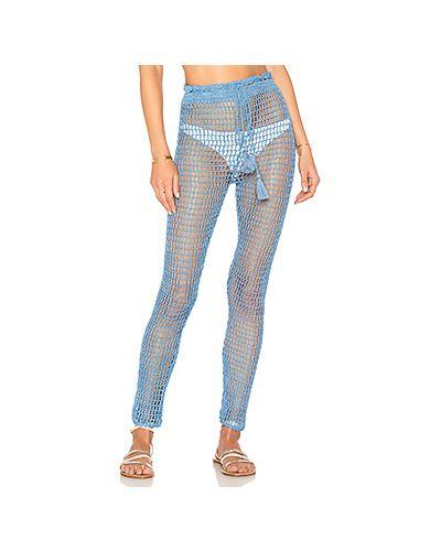 Синие брюки с завязками Majorelle