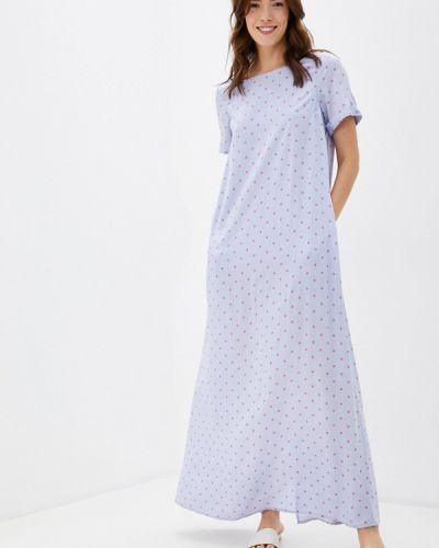 Прямое фиолетовое свободное платье Finn Flare