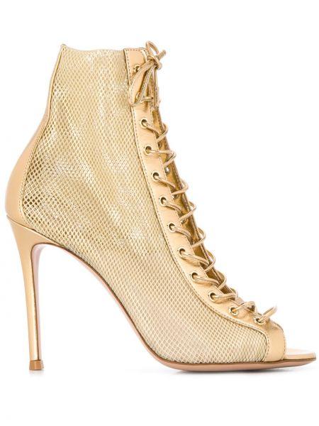 Туфли на каблуке с открытым носком на шпильке Gianvito Rossi